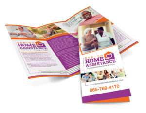 Senior Home Assistance Literature branding